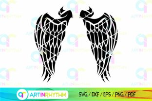 Wings Svg, Angel Wings Svg Graphic Crafts By artinrhythm
