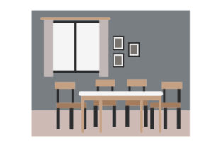 Dining Room Scene Dining Room Craft Cut File By Creative Fabrica Crafts