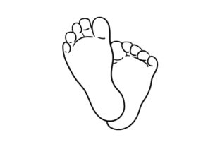 Baby Feet Line Art Baby Craft Cut File By Creative Fabrica Crafts