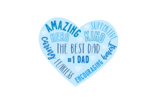 Father's Day Heart Word Art Father's Day Craft Cut File By Creative Fabrica Crafts