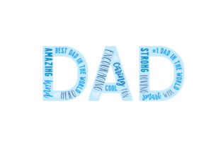 DAD Word Art Father's Day Craft Cut File By Creative Fabrica Crafts