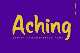 Print on Demand: Aching Script & Handwritten Font By Productype
