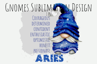 Print on Demand: Aries Zodiac Gnome Sublimation PNG Graphic Illustrations By Celebrately Graphics