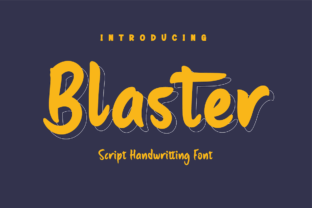 Print on Demand: Blaster Script & Handwritten Font By Productype