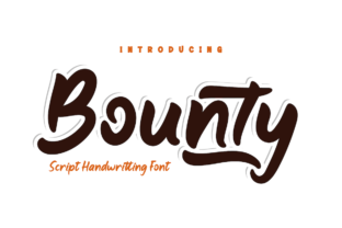 Print on Demand: Bounty Script & Handwritten Font By Productype