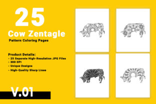 Print on Demand: Bull Zentangle Mandala Coloring Pages Graphic Coloring Pages & Books Adults By bengalcanvas
