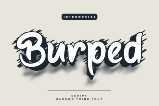 Print on Demand: Burped Script & Handwritten Font By Productype