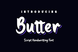 Print on Demand: Butter Script & Handwritten Font By Productype