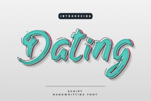 Print on Demand: Dating Script & Handwritten Font By Productype