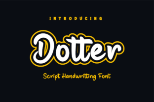 Print on Demand: Dotter Script & Handwritten Font By Productype 1
