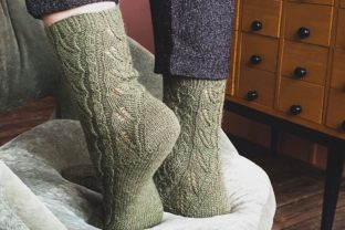 Elven Forest Socks Graphic Knitting Patterns By Neatly Knit Store