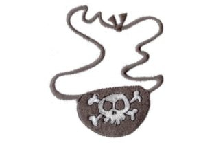 Eye Patch Pirates Embroidery Design By Sew Terific Designs