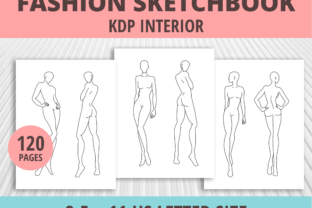 Print on Demand: Fashion Sketchbook Graphic KDP Interiors By PrintablesCC