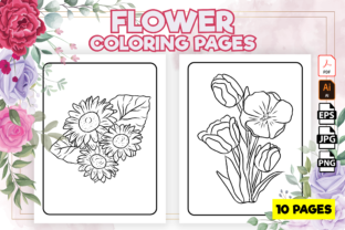 Print on Demand: Flower Coloring Pages for Kids - Kdp Graphic Coloring Pages & Books Kids By Kristy Coloring