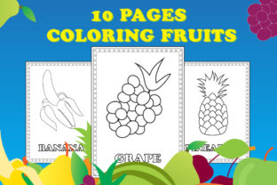 Fresh Fruit Coloring Book Graphic Coloring Pages & Books Kids By Kids Zone