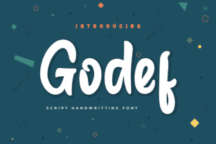 Print on Demand: Godef Script & Handwritten Font By Productype