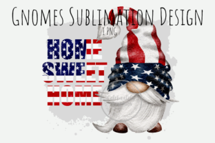 Print on Demand: Home Sweet Home Gnome Sublimation PNG Graphic Illustrations By Celebrately Graphics