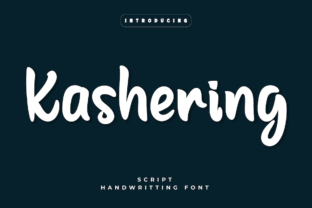 Print on Demand: Kashering Script & Handwritten Font By Productype