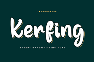 Print on Demand: Kerfing Script & Handwritten Font By Productype