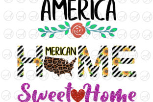 Print on Demand: Leopard America Home Sweet Home Graphic Print Templates By ArtPrintables Designs 1