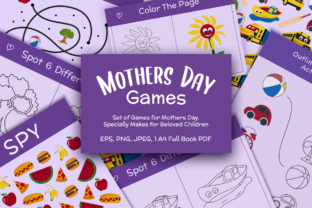 Print on Demand: Mother's Day Games and Coloring Pages Graphic 2nd grade By creativesvg 1