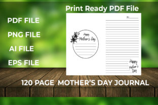 Print on Demand: Mother's Day Notebook Graphic KDP Interiors By bengalcanvas