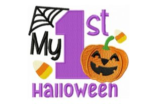 My First Halloween Halloween Embroidery Design By Sew Terific Designs
