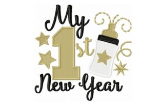 My First New Year Anniversary Embroidery Design By Sew Terific Designs