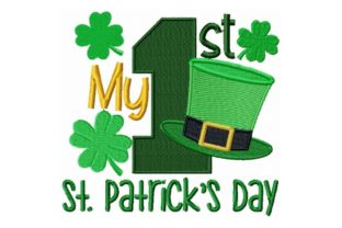 My First St. Patrick's Day St Patrick's Day Embroidery Design By Sew Terific Designs