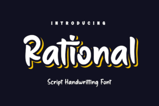 Print on Demand: Rational Script & Handwritten Font By Productype
