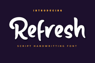 Print on Demand: Refresh Script & Handwritten Font By Productype