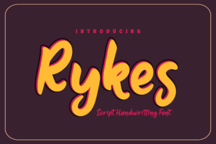 Print on Demand: Rykes Script & Handwritten Font By Productype