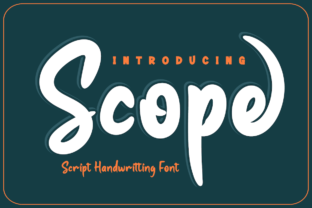 Print on Demand: Scope Script & Handwritten Font By Productype