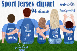 Print on Demand: Soccer Jersey Clipart Family Clipart Grafik Illustrationen von LeCoqDesign
