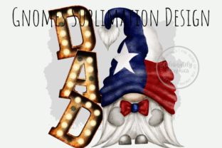 Print on Demand: Texas Dad Gnome Sublimation PNG Graphic Illustrations By Celebrately Graphics