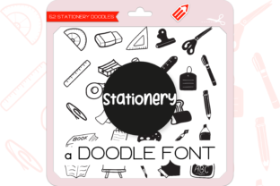 Print on Demand: The Stationery Dingbats Font By WADLEN