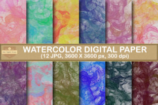 Print on Demand: Watercolor Ink Paper Texture Backgrounds Graphic Backgrounds By SineDigitalDesign