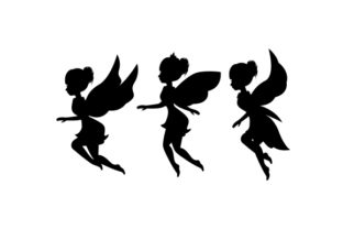 Fairy Silhouettes Designs & Drawings Craft Cut File By Creative Fabrica Crafts