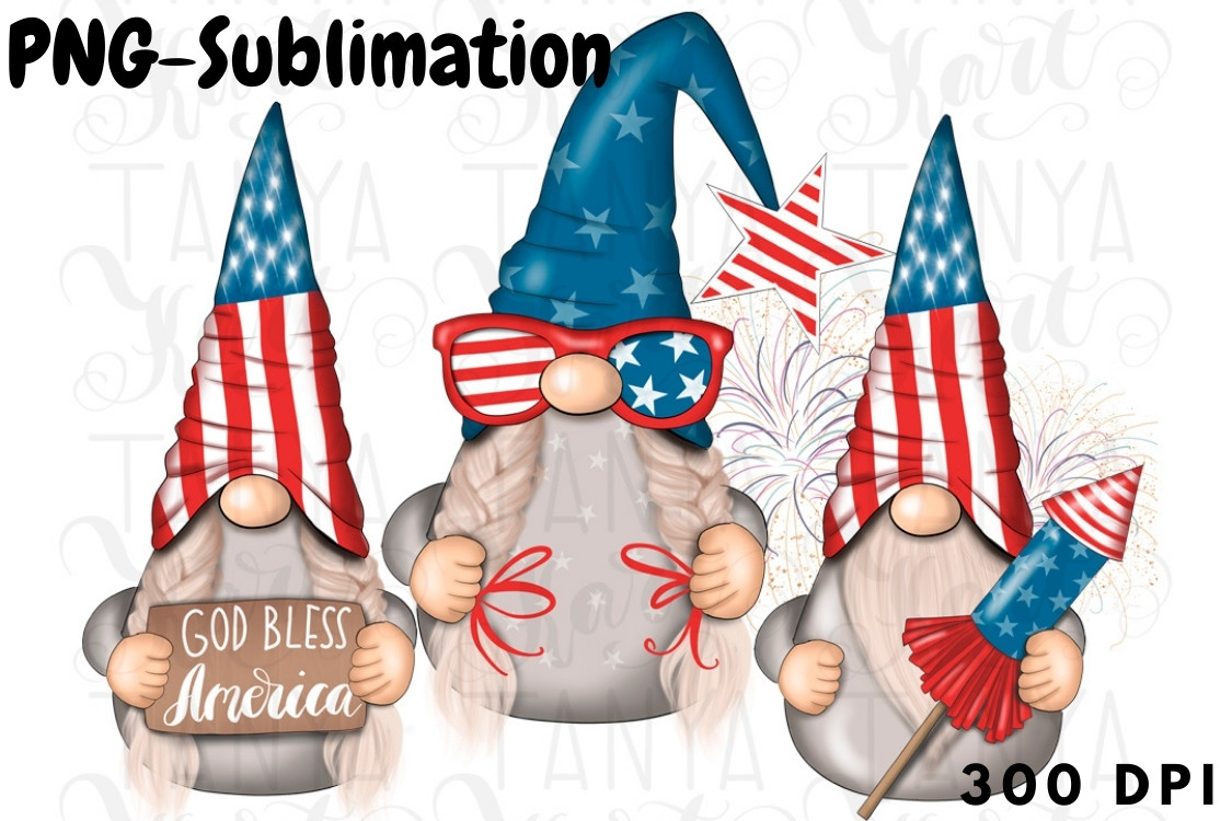 4 Th of July Sublimation SVG File