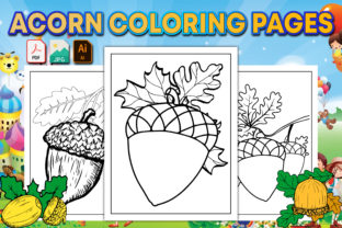 Acorn Coloring Pages for Kids Graphic Coloring Pages & Books Kids By GraphicsArt