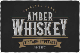 Print on Demand: Amber Whiskey Display Font By Vozzy Vintage Fonts And Graphics 1