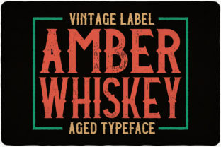 Print on Demand: Amber Whiskey Display Font By Vozzy Vintage Fonts And Graphics 3