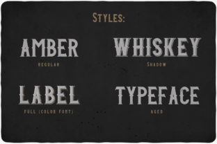 Print on Demand: Amber Whiskey Display Font By Vozzy Vintage Fonts And Graphics 4