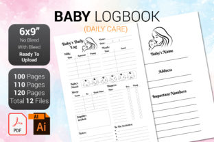 Print on Demand: Baby Log Book Graphic KDP Interiors By PEN_TOOLS