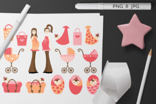Print on Demand: Baby Girl and Pregnant Woman Graphic Illustrations By Revidevi