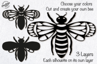 Bee Layered 3D Template for Cricut Graphic 3D SVG By Createya Design 2