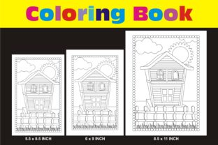 Print on Demand: Coloring Pages Wooden House KDP Interior Graphic KDP Interiors By edywiyonopp
