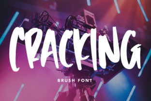 Print on Demand: Cracking Display Font By Arendxstudio