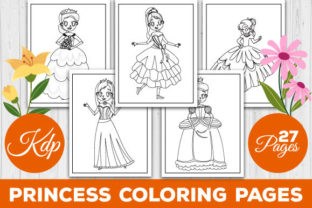 Print on Demand: Cute Princess Coloring Pages for Kids Graphic Coloring Pages & Books Kids By TrendColors
