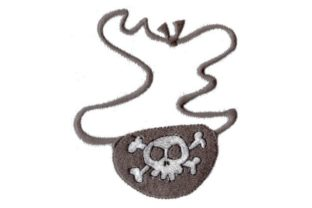 Eye Patch in the Hoop Pirates Embroidery Design By Sew Terific Designs